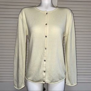 Eddie Bauer XL Yellow Wool Blend Cardigan Sweater